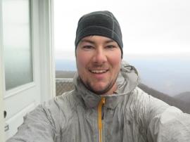 Selfie on Albert Mountain Fire Tower