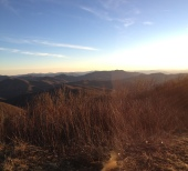 Siler Bald right before sunset.
