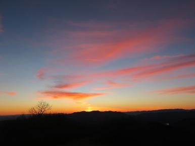 Siler Bald Sky at Sunset