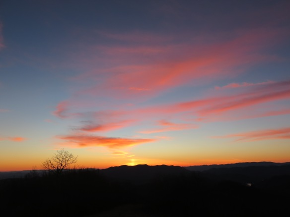 Siler Bald Sky at Sunset