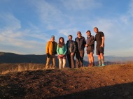 Group picture at Siler Bald. From Left to Right: Blazer, Hula, Poboy, Made It, Car Bomb, Billy Goat