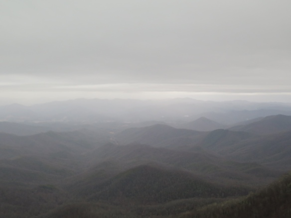 Rainy view from Albert Mountain Fire Tower