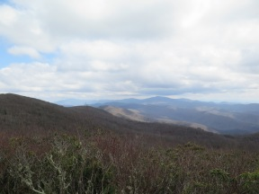 The mountain in the distance is Clingmans Dome. It took one day to walk there from this point.