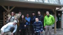 The crew staying at the Top of Georgia Hostel