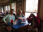 Me, Dave and Robin having lunch at the NOC restaurant
