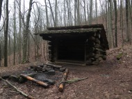 Cable Gap Shelter. Typical A.T. shelter.