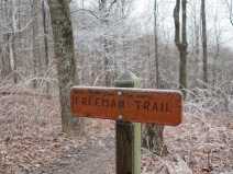 The Freeman Trail skirts the summit of Blood Mountain, saving the hiker 700 ft up and down. We did not take it.
