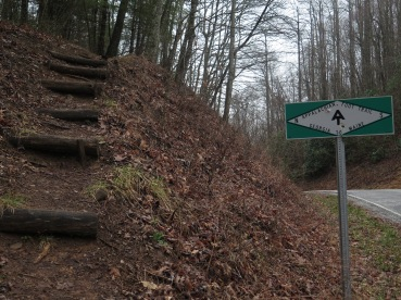 The A.T. crosses several highways like this. Also, I hate stairs!