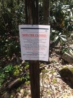 Watauga shelter closed