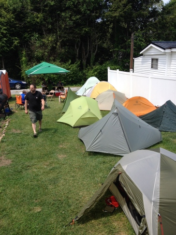 Tents set up at Trail Days