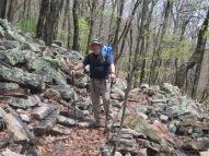 Crawdad navigating rocky trail