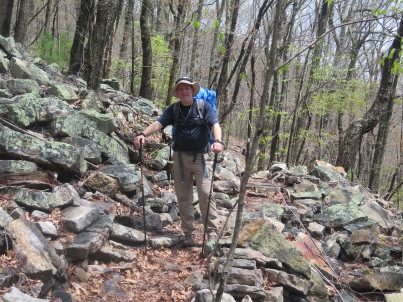 Crawdad navigating rocky trail