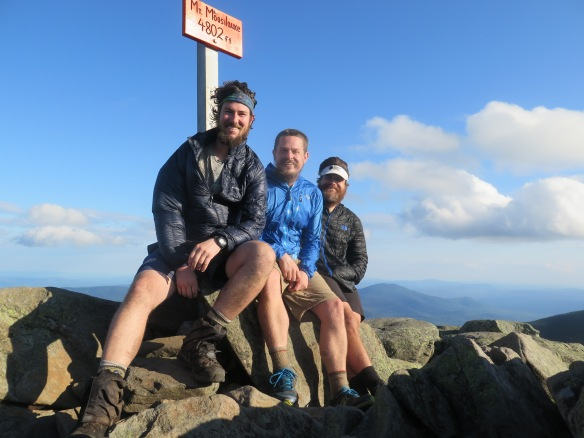 PoBoy, Rock Boat and Jeopardy atop Mt. Moosilauke