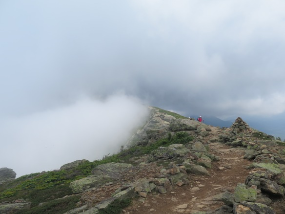 In the clouds on Franconia Ridge