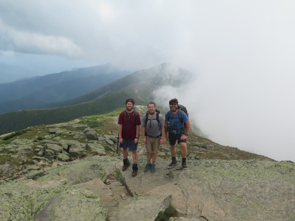 Mt. Lafayette summit with Rock Boat and Jeopardy