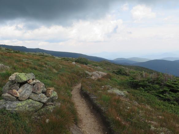 Worn trail leading to Mt. Washingotn