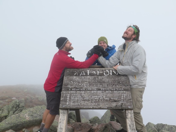 Jeopardy, Poboy and RockBoat on the summit.